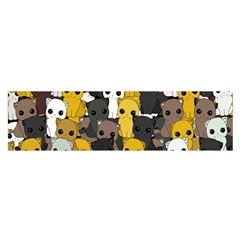 Cute Cats Pattern Satin Scarf (oblong)