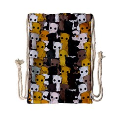 Cute Cats Pattern Drawstring Bag (small)