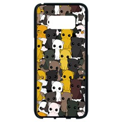 Cute Cats Pattern Samsung Galaxy S8 Black Seamless Case