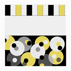 Black, Gray, Yellow Stripes And Dots Medium Glasses Cloth (2 Side)