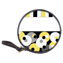 Black, Gray, Yellow Stripes And Dots Classic 20 Cd Wallets