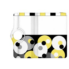 Black, Gray, Yellow Stripes And Dots Kindle Fire Hdx 8 9  Flip 360 Case