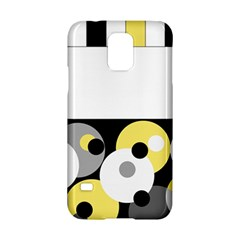 Black, Gray, Yellow Stripes And Dots Samsung Galaxy S5 Hardshell Case