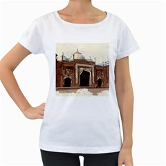 Agra Taj Mahal India Palace Women s Loose Fit T Shirt (white)