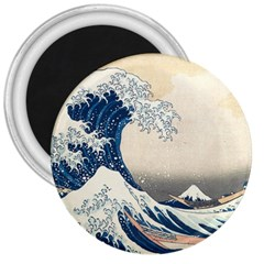 The Classic Japanese Great Wave Off Kanagawa By Hokusai 3  Magnets