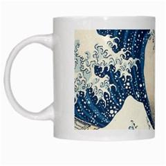 The Classic Japanese Great Wave Off Kanagawa By Hokusai White Mugs