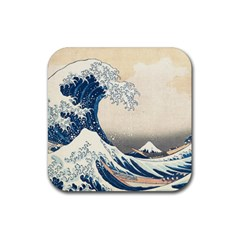 The Classic Japanese Great Wave Off Kanagawa By Hokusai Rubber Coaster (square)