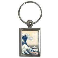 The Classic Japanese Great Wave Off Kanagawa By Hokusai Key Chains (rectangle)