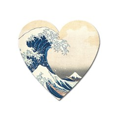 The Classic Japanese Great Wave Off Kanagawa By Hokusai Heart Magnet