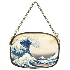 The Classic Japanese Great Wave Off Kanagawa By Hokusai Chain Purses (two Sides)