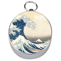The Classic Japanese Great Wave Off Kanagawa By Hokusai Silver Compasses