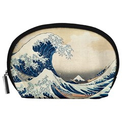 The Classic Japanese Great Wave Off Kanagawa By Hokusai Accessory Pouches (large)