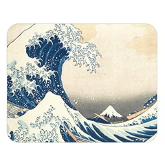 The Classic Japanese Great Wave Off Kanagawa By Hokusai Double Sided Flano Blanket (large)