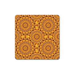 Golden Mandalas Pattern Square Magnet