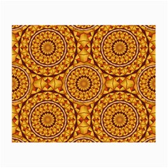 Golden Mandalas Pattern Small Glasses Cloth
