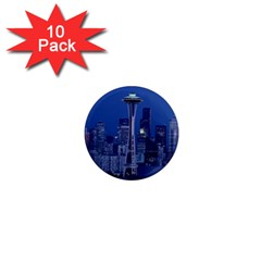 Space Needle Seattle Washington 1  Mini Magnet (10 Pack)