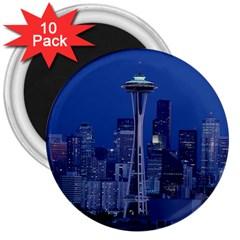 Space Needle Seattle Washington 3  Magnets (10 Pack)