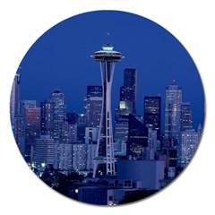 Space Needle Seattle Washington Magnet 5  (round)
