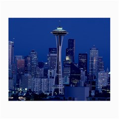 Space Needle Seattle Washington Small Glasses Cloth