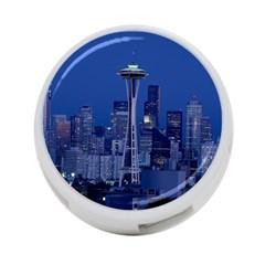 Space Needle Seattle Washington 4 Port Usb Hub (two Sides)