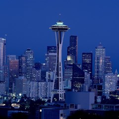 Space Needle Seattle Washington Magic Photo Cubes