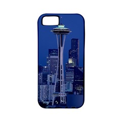 Space Needle Seattle Washington Apple Iphone 5 Classic Hardshell Case (pc+silicone)