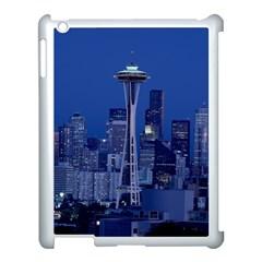 Space Needle Seattle Washington Apple Ipad 3/4 Case (white)