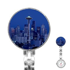 Space Needle Seattle Washington Stainless Steel Nurses Watch
