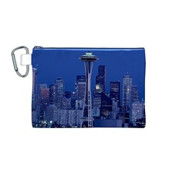 Space Needle Seattle Washington Canvas Cosmetic Bag (m)