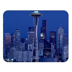 Space Needle Seattle Washington Double Sided Flano Blanket (large)
