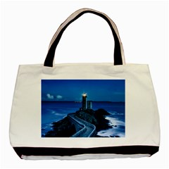 Plouzane France Lighthouse Landmark Basic Tote Bag