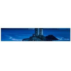 Plouzane France Lighthouse Landmark Flano Scarf (large)
