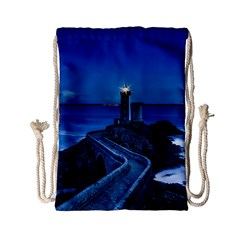 Plouzane France Lighthouse Landmark Drawstring Bag (small)