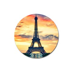 Eiffel Tower Paris France Landmark Magnet 3  (round)