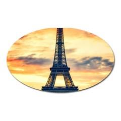 Eiffel Tower Paris France Landmark Oval Magnet