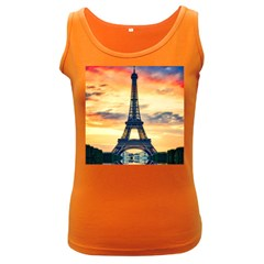 Eiffel Tower Paris France Landmark Women s Dark Tank Top
