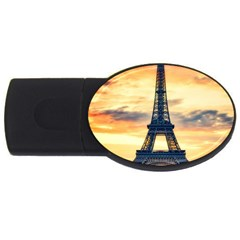 Eiffel Tower Paris France Landmark Usb Flash Drive Oval (4 Gb)
