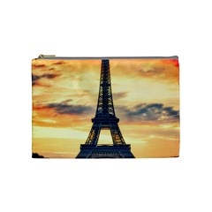 Eiffel Tower Paris France Landmark Cosmetic Bag (medium)