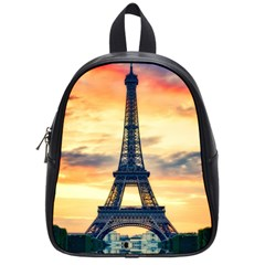 Eiffel Tower Paris France Landmark School Bag (small)