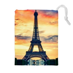 Eiffel Tower Paris France Landmark Drawstring Pouches (extra Large)