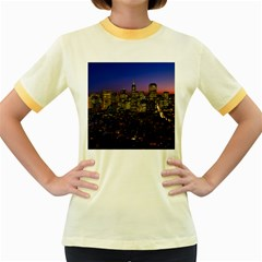 San Francisco California City Urban Women s Fitted Ringer T Shirts
