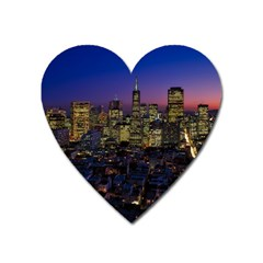 San Francisco California City Urban Heart Magnet