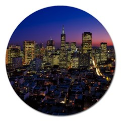 San Francisco California City Urban Magnet 5  (round)
