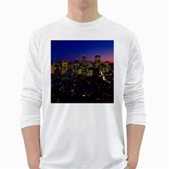 San Francisco California City Urban White Long Sleeve T Shirts