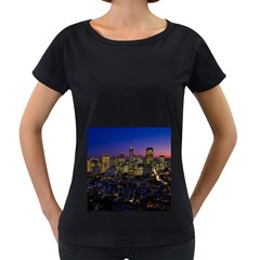 San Francisco California City Urban Women s Loose Fit T Shirt (black)