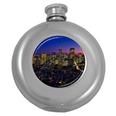 San Francisco California City Urban Round Hip Flask (5 Oz)