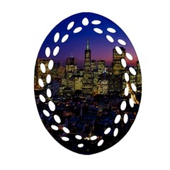 San Francisco California City Urban Ornament (oval Filigree)