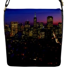 San Francisco California City Urban Flap Messenger Bag (s)