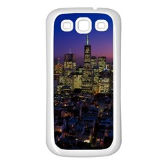 San Francisco California City Urban Samsung Galaxy S3 Back Case (white)