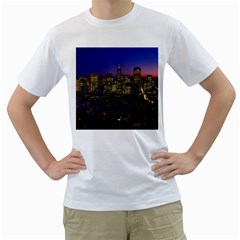 San Francisco California City Urban Men s T Shirt (white)